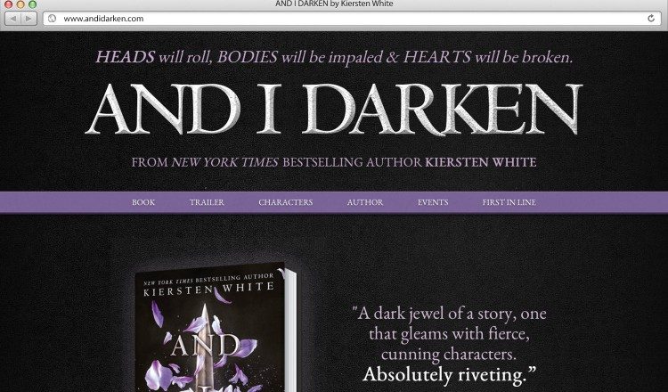 And-I-Darken-Book-Website-Design