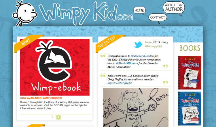 Wimpy Kid website