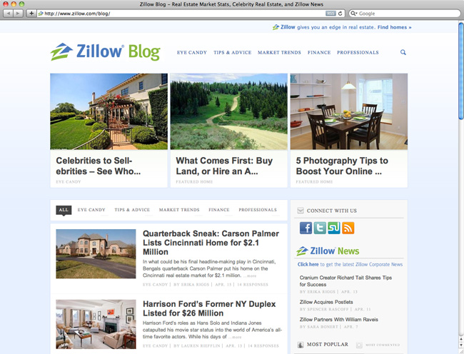 zillow web design