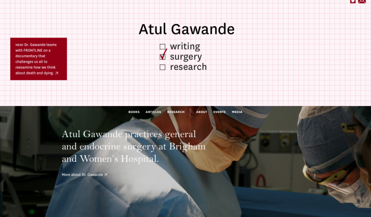 atul gawande website design