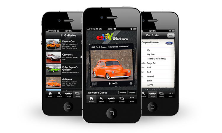iphone app ux and design for ebay motors