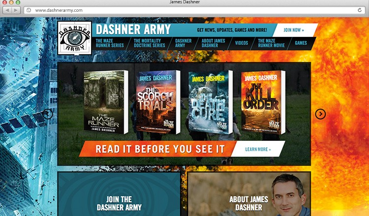 james-dashner-army-website-design