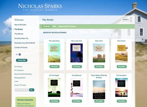 nicholas-sparks-website