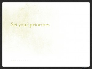 Set Your Priorities