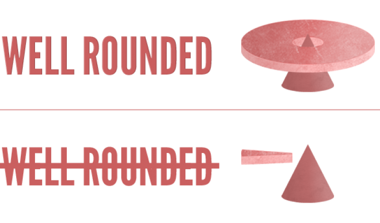 Being Well Rounded Graphic