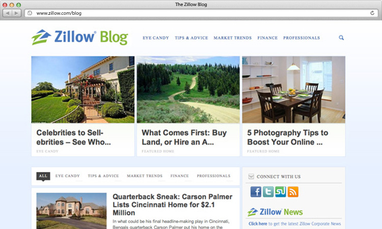 Zillow blog apt design for Zillow site